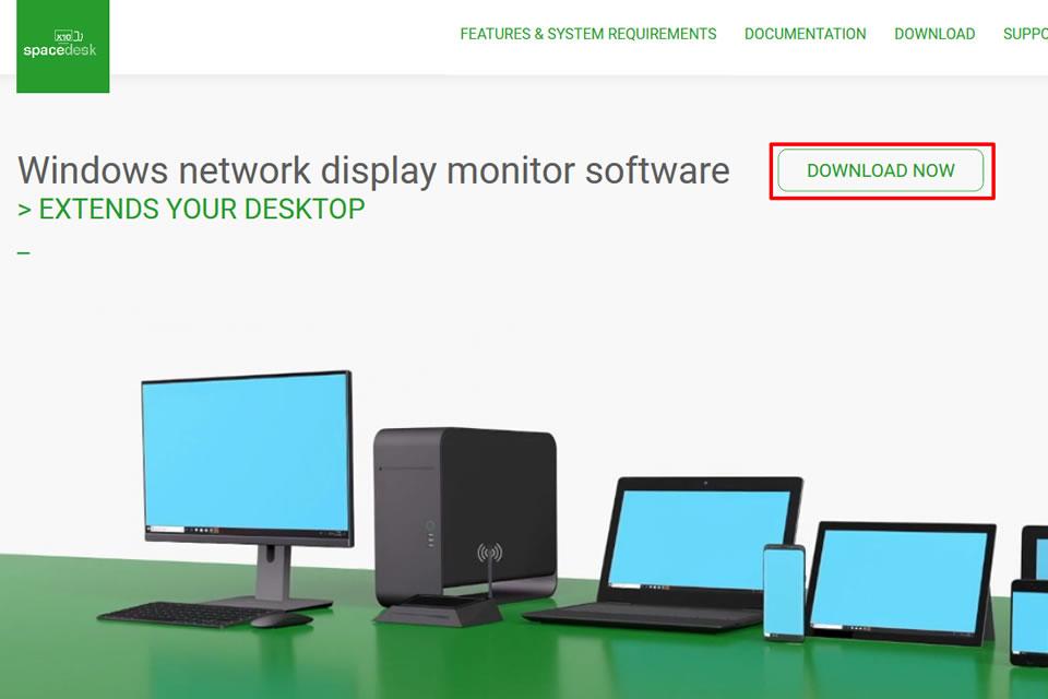 spacedeskのWebサイト