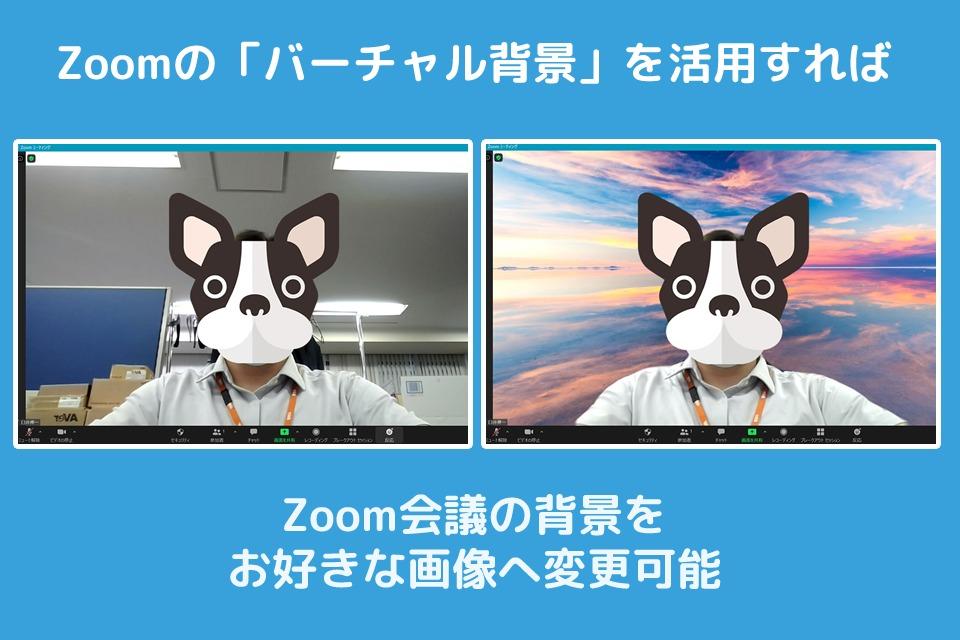 Zoomのバーチャル背景とは